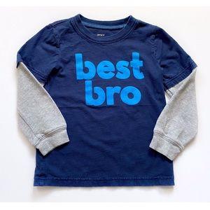 """Carter's """"Best Bro"""" Long Sleeved Shirt Size 4T"""